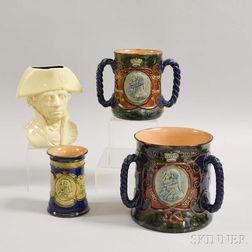 Four Royal Doulton Commemorative Admiral Nelson Stoneware Vessels