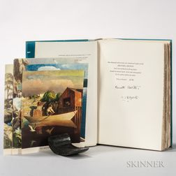 Roberts, Kenneth (1885-1957) and N.C. Wyeth (1882-1945) Trending into Maine  , Signed Limited Edition.