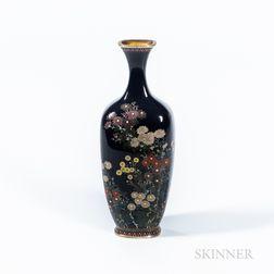 Small Black Cloisonné Vase