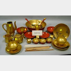 Approximately Forty-eight Pieces of Japanese Lacquer Tableware
