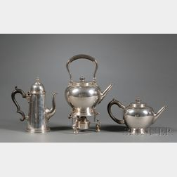 Set of Three George VI Silver Tea and Coffee Pots