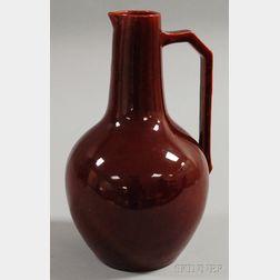 European Sang de Boeuf Glazed Pottery Pitcher