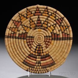 Hopi Pictorial Coiled Basketry Plaque