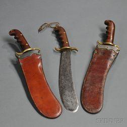 Three Model 1904 Hospital Bolo Knives