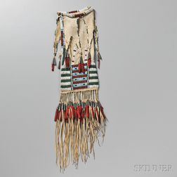 Southern Cheyenne Beaded Hide Pipe Bag