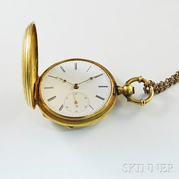 Mathey Gold Pocket Watch