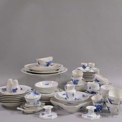 Partial Royal Copenhagen Blue and White Porcelain Dinner Service