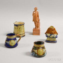 Five Royal Doulton Commemorative Admiral Nelson Stoneware Items