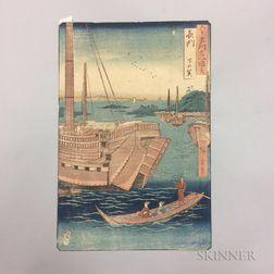 Utagawa Hiroshige (1797-1858), Shimonoseki, Nagato Province