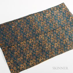 Blue and Gold Silk Fabric