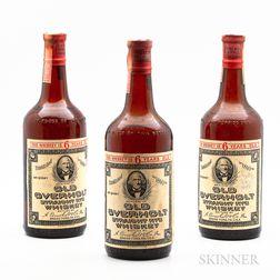 Old Overholt 6 Years Old, 3 4/5 quart bottles