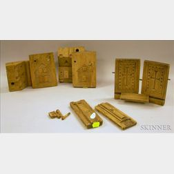 Two Carved Wooden Maple Sugar Molds