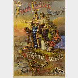 Framed Chromolithograph Advertisement Frank Leslie's Illustrated Historical