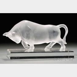 Fabergé Glass Study of a Bull