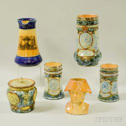 Six Royal Doulton Admiral Nelson Stoneware Vessels