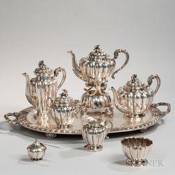 Seven-piece Sanborns Decorated Tea Service