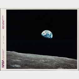 Apollo 8, Earth View, December 1968 [Post-1975 Print].