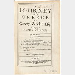 Wheler, George (1650-1723) A Journey into Greece.