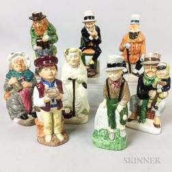 Eight Wood & Sons Ceramic Dickens Character Jugs