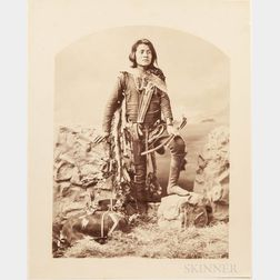 Bell, Charles Milton (1848-1893) Ten Large Albumen Photographs of Diné/Navajo People.