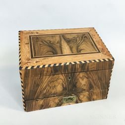 Inlaid Exotic Wood Document Box