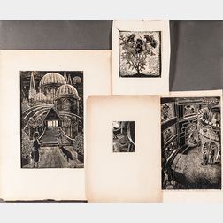 German School, 20th Century      Four Prints of Various Subjects.