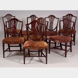 Set of Eight Federal Cherry Side Chairs