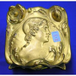 Williams Bros. Art Nouveau Gilt Metal Jewelry Box.