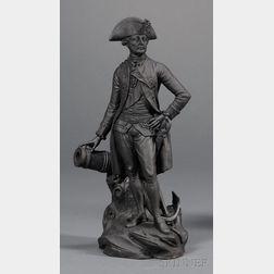 Black Basalt Figure of Lord Rodney