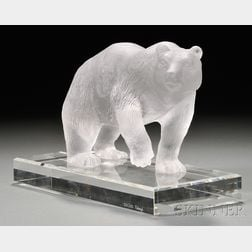 Fabergé Glass Study of a Bear