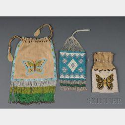 Three Beaded Bags,