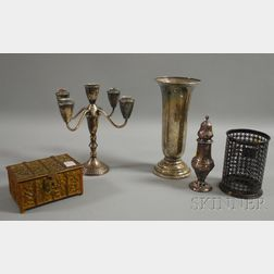 Five Assorted Metal Objects