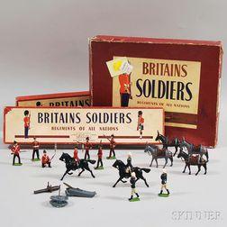 Three Britains Ltd. Painted Lead British Military Figural Sets