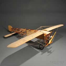 """Wood and Fabric Model of the """"BLERIOT XI"""" Airplane"""