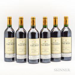 Chateau Talbot 1995, 6 bottles