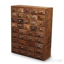 Forty-drawer Pine Apothecary Chest