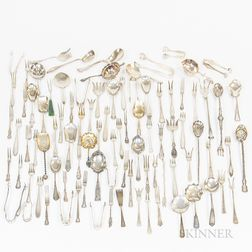 Group of Sterling Silver Serving Forks and Serving Pieces