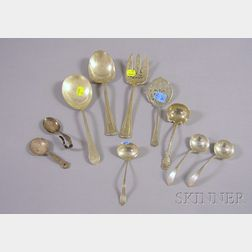 Ten Sterling Silver Serving Items