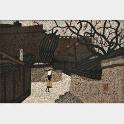 Kiyoshi Saito (Japanese, 1907-1997)      Village in Autumn.