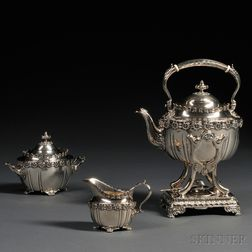 Three-piece Tiffany & Co. Sterling Silver Tea Service