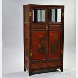 Large Two-door Painted Cabinet