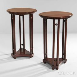 Pair of Side Tables Design Attributed to Josef Hoffman