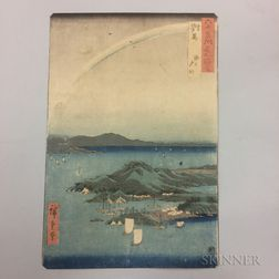 Utagawa Hiroshige (1797-1858), A Fine Evening on the Coast, Tsushima Province