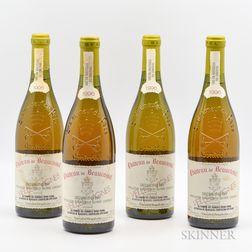 Chateau Beaucastel Chateauneuf du Pape Blanc Vieilles Vignes 1996, 4 bottles