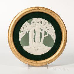 "Wedgwood Solid Green Jasper ""Eve"" Plaque"