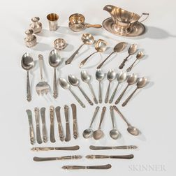 Group of Sterling Silver Flatware and Hollowware