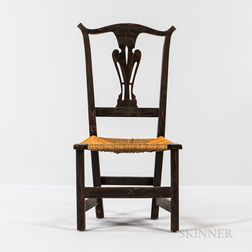 Country Chippendale-style Grain-painted Side Chair