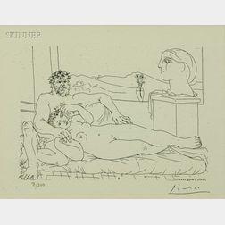 Pablo Picasso (Spanish, 1881-1973)      Le repos du sculpteur, II