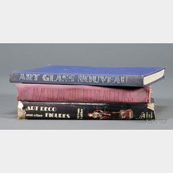 Three Art Glass Reference Books