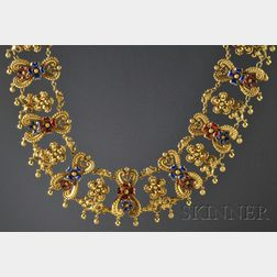 Renaissance Revival 18kt Gold and Enamel Necklace